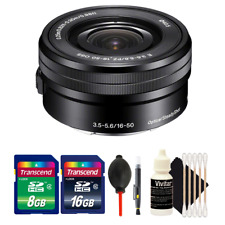 Sony SELP1650 16-50mm Power Zoom Lens with Accessory Bundle