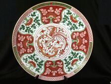"""Antique Chinese Large 18"""" Charger Chenghua Hand Signed Dai Ming Seika Nen Sei"""
