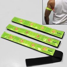 Reflective ARMBANDS w/Blinking LED Lights for Night Running Cycling Jogging