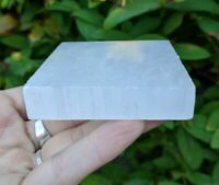 "ONE (1) SELENITE ""Charging"" Square Slab Crystal Stone Reiki Charged *Read Below*"