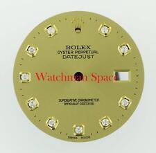 Original Men's Rolex Datejust QS 116233 116203 Champagne Diamond Dial 2Tone #E7