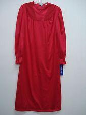 USA Made Nancy King Lingerie Soft Luster Nylon Gown Size Medium Red #639Q