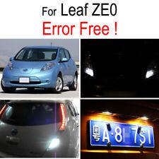 6x LED Plate bulb Exterior Reverse light Parking lamp For Nissan Leaf ZE0 10-17