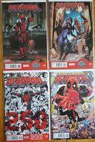 Deadpool Vol 4 - 43 44 45 (#250 Death of) & Vol 5 #1 NM 1st Print Ryan Reynolds