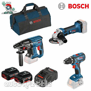 Bosch 18 Volt Profi-Set mit 2 Akkus GSR 18 V-28 GWS 18-125 V-LI GBH 18 V-20 NEU