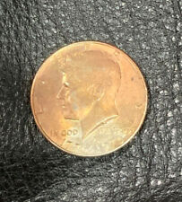 1976 D Missing Clad Layer Kennedy Half Dollar Mint Error Bright Red Color