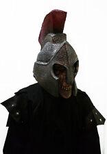 Mens Roman Costume Mask & Helmet Halloween Dead Spartan Gladiator Latex Maske