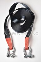 """2"""" 4 TON Tow Strap with D-Ring 60 ft winch sling offroad ATV UTV snatch recovery"""
