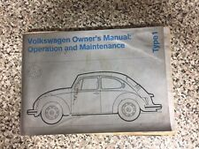 Volkswagen Owner's Manual Operation and Maintenance Type 1 1972 Models
