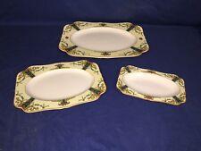 3 Antique Crown Ducal England Serving Platters Circa: 1887 Till? ~ 72944
