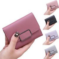 Women Lady Faux Leather Wallet Purse Zip Clutch Mini Coin Credit Card Holder