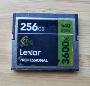 Lexar Professional 256GB CFast 2.0 / 3600x / 540MB Read / 445MB Write / USED