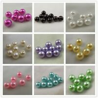 Assorted Color Imitated Pearl ABS Plastic Tiny Round Bead Decor 8mm 250PCS