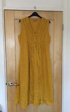 Pure Yellow 100% Linen Dress Size 12
