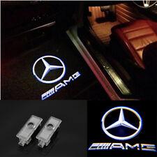 2pcs Benz AMG Logo LED laser Projector door light For Mercedes-Benz CLS CLA C207