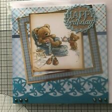 BIRTHDAY, HANDMADE GOLD EMBOSSED LEISURLY AFTERNOON TEA OR DELIVERING TEA TRAY