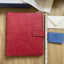 Bnib Smythson Mara Dukes Organizer Croc Leather Magenta Pink Diary