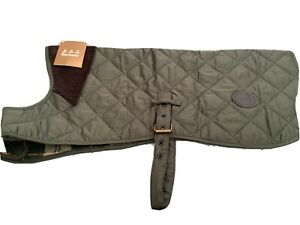 Barbour Green Quilted Dog Coat L