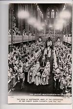 Vintage Postcard Coronation of Queen Elisabeth II United Kingdom