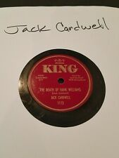 """Jack Cardwell – The Death Of Hank Williams / Two Arms, 78 rpm 10"""""""
