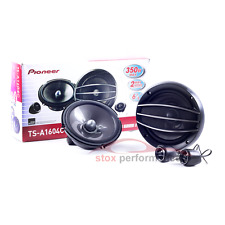 "Pioneer TS-A1604C 6.5"" 2-Way 350 Watts Peak 4 Ohms Component Car Speaker-New"