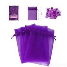 Gift Baskets Organza Bags, G2Plus 100pcs 10x15cm Drawstring Organza Favor