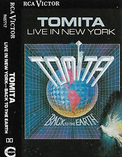 TOMITA BACK TO EARTH LIVE IN NEW YORK CASSETTE ALBUM ELECTRONIC AMBIENT CLASSICA