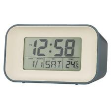 'Alta' Reflection LCD Alarm Clock in Storm Blue by Acctim