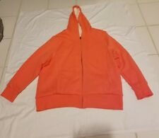 OLD NAVY Womens Orange Faux Fur Hoodie /Jacket Coat Size XXL