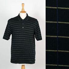 Mens Izod Marca Patrón De Cuadros Negro Camisa Camiseta Polo Preppy Golf Club L