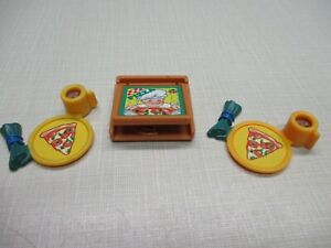 FISHER PRICE LOVING FAMILY PIZZA BOX AND PIZZA FOOD TRAYS