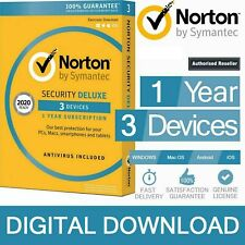 Norton Internet Security 360 Deluxe 2020 Antivirus VPN SafeCam Backup 2021 3 PC