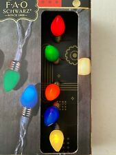 Fao Schwarz Battery Powered 10ft/3m Led String Lights 25 Multi-Colored Bulbs New