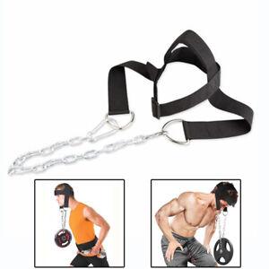 Nackentrainer Kopftrainer mit Stahl Kette Karabiner Halsmuskeltrainer Boxzubehör