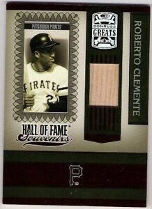 2005 Donruss Greats ROBERTO CLEMENTE Hall of Fame Souvenirs RELIC BAT Card