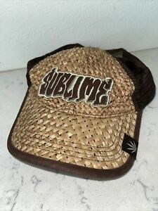 Sublime Straw Mesh Trucker Hat Cap Adjustable SnapBack Bio Domes Headgear