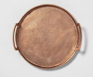 HEARTH & HAND MAGNOLIA ANTIQUE FINISHED ROUND COPPER TRAY NEW RELEASE FALL 2020