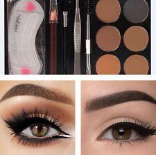 Deluxe Cosmetics 6 colour Eyebrow kit set Powder Palette Brush& tweezer&pencil