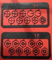 Parker Hale Matchmaker foresight 17mm Target element sets ring & Fun BSA, Bruno