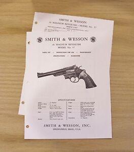 Smith & Wesson  .41  Magnum Revolver Manual - Model 57 - #SW21