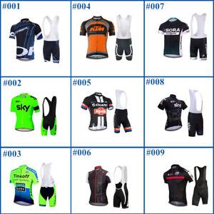 SKYSPER Radtrikot Set Herren Langarm Fahrradbekleidung Radfahren Set Kleidung Radsport Anz/üge