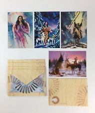 Leanin Tree Christmas Cards Native Spirit Lot of 4 + Envelopes Assortment