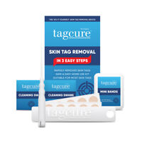 EASY FAST SKIN TAG REMOVAL Tags Remover Kit Bio Best Patches Band Clear Wart UK