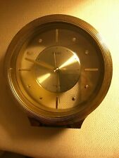 Vintage Brass & Glass SEIKO MANTEL SHELF CLOCK Signed & #d Analog Made in Japan