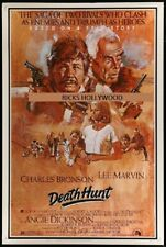 "Original DEATH HUNT Rare 40"" x 60"" ROLLED LEE MARVIN Solie Art CHARLES BRONSON"