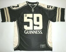 Official Guinness Black & Gold Hockey Jersey Size Xxlarge Embroidered Logos