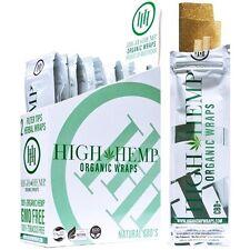 High hemp Organic wraps 25  (2 wrap) pouches 50 wraps CBD Infused