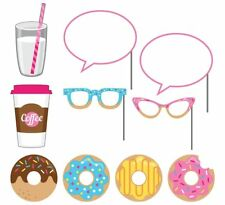 10-Piece Photo Props For Party, Donut Time