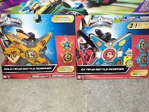 Power Rangers Super Ninja Steel Red & Gold Morpher limited edition New