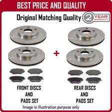 Discos de freno delantero y trasero y Almohadillas para Mazda Atenza 2.0D 6/2002-8/2008